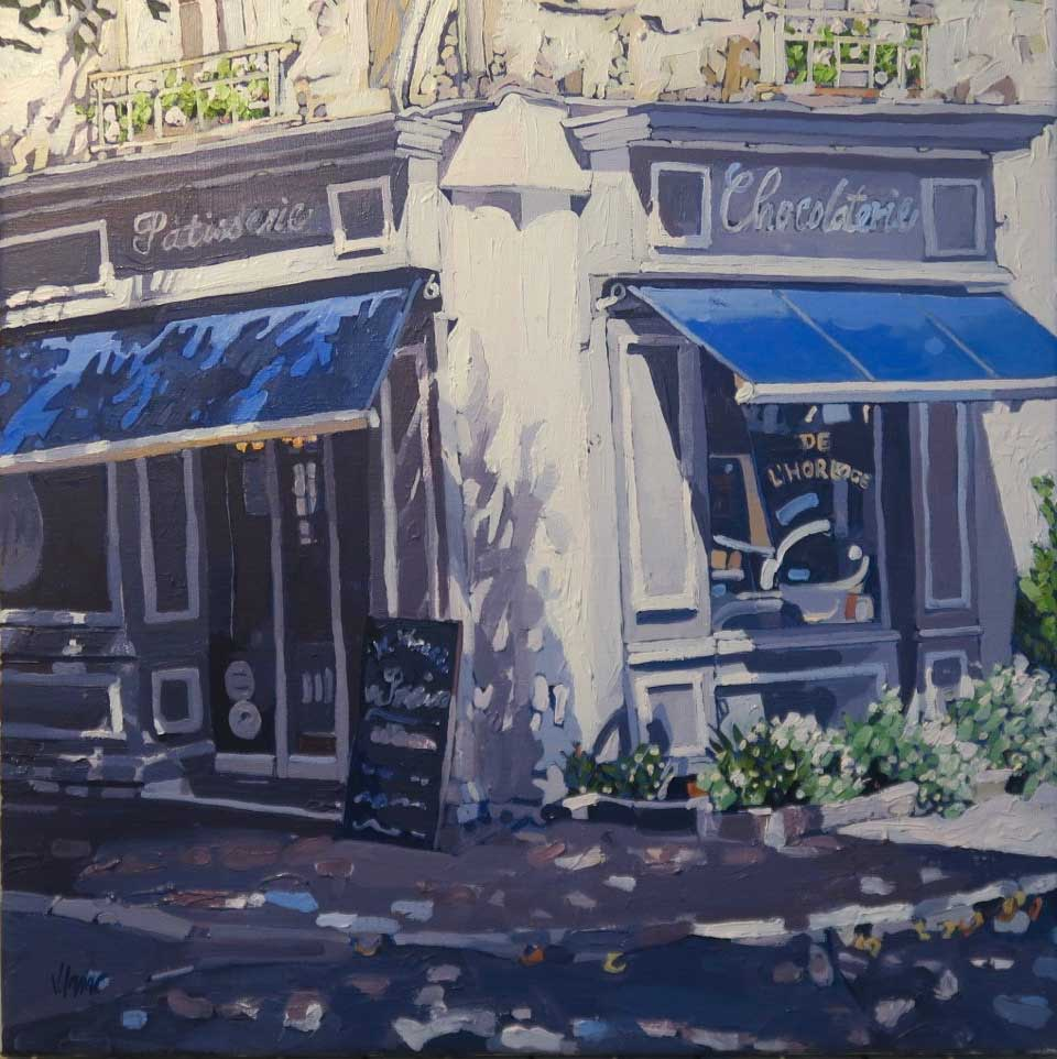 1158-Chocolaterie-Chinon-16ins-x-16ins-oil-on-canvas