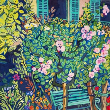 1160-The-garden-Giverny-8ins-x-8ins-gouache