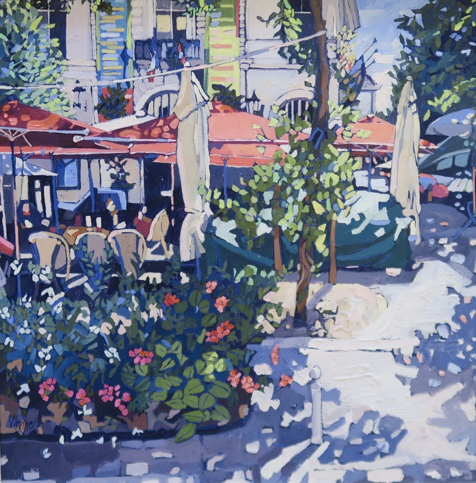 The square Chinon, 20ins x 20ins (oil on canvas) £1,950