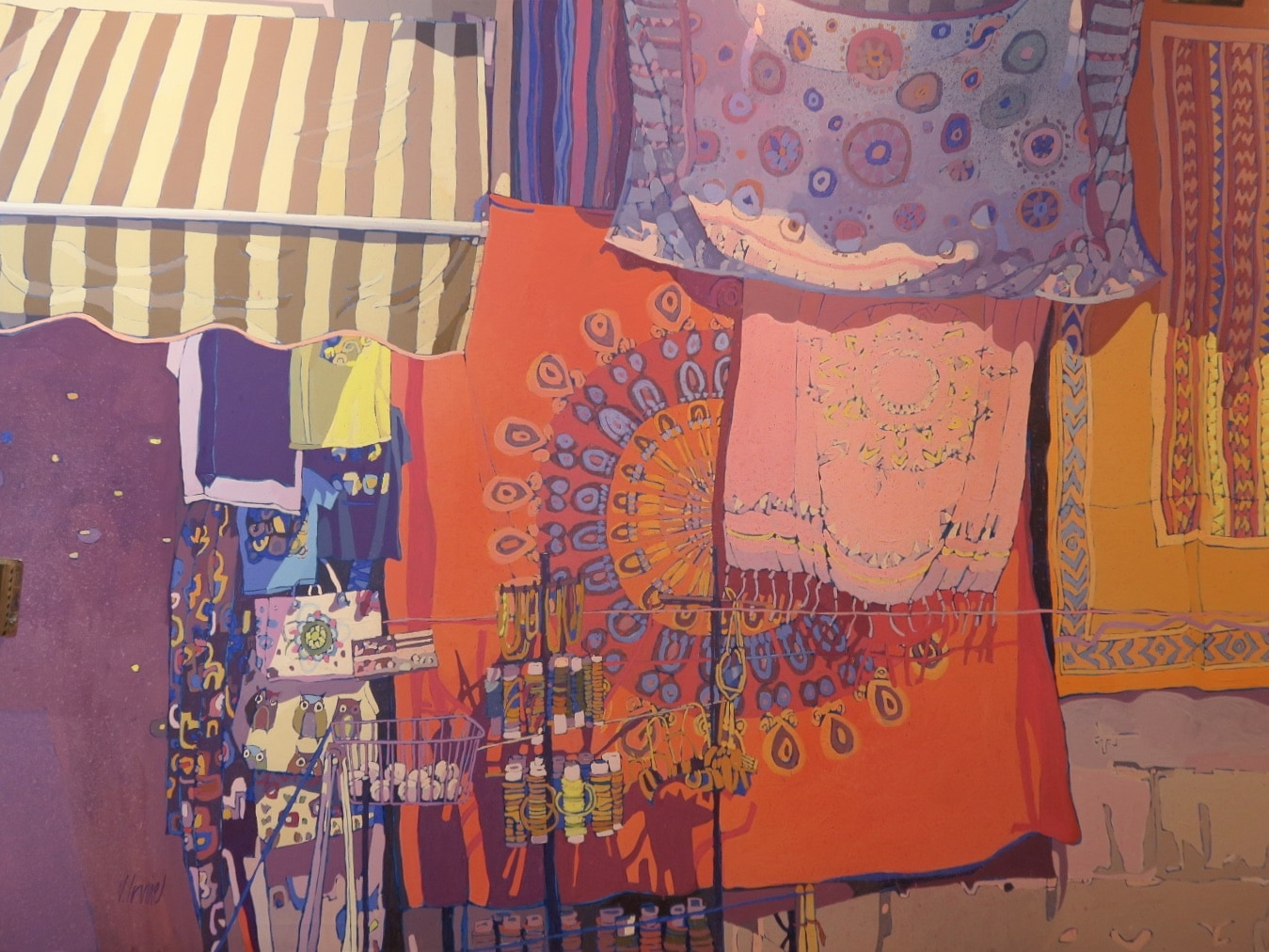Street stall, Granada, by Jennifer Irvine, oil on canvas, 48ins x 36ins, £4000