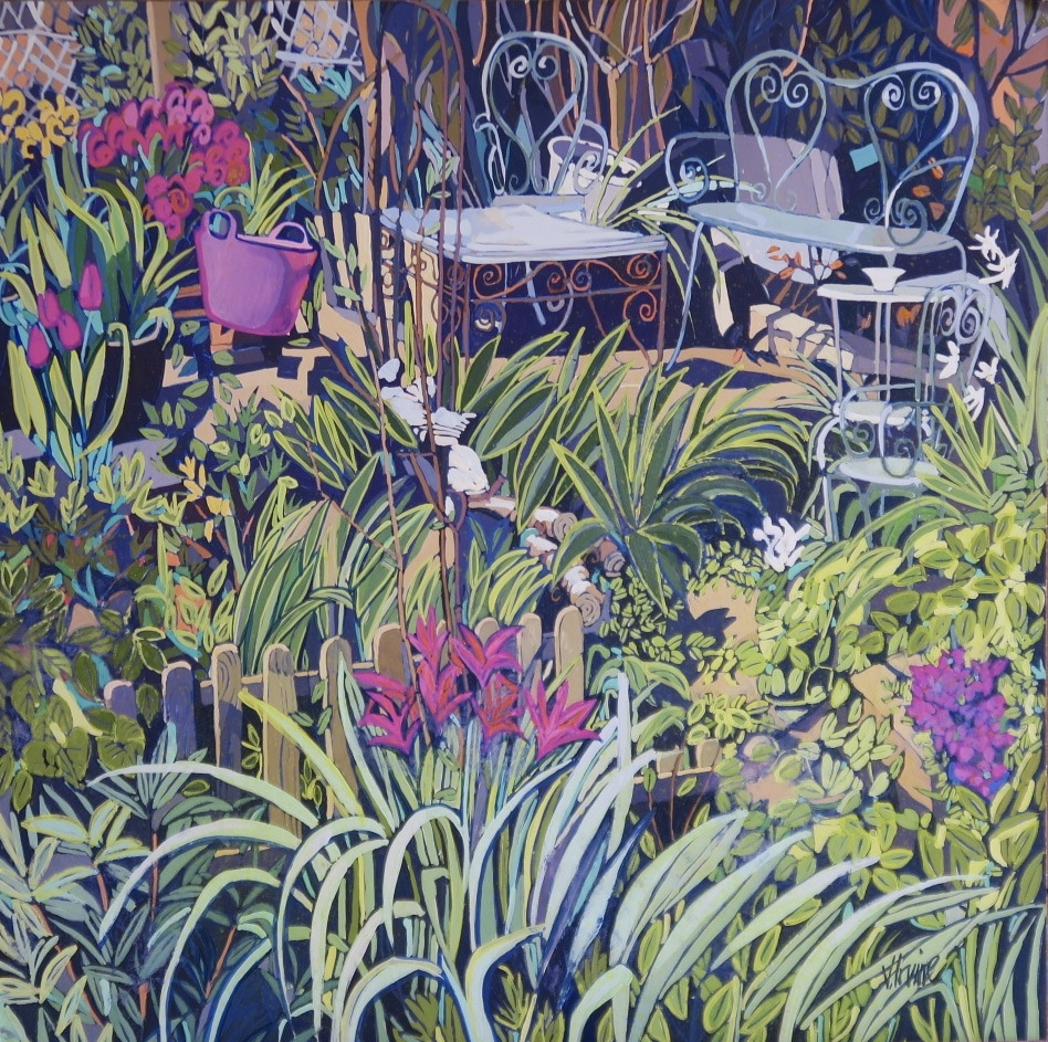1175-The Allotments 20ins x 20ins gouache £1500