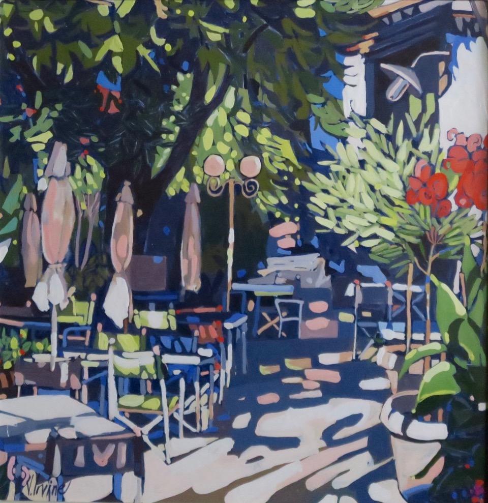 1178-La Terrasse Montmirail gouache 12ins x 12ins £1000